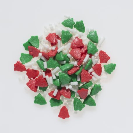 Christmas Trees Shapes & White Sprinkles Mix